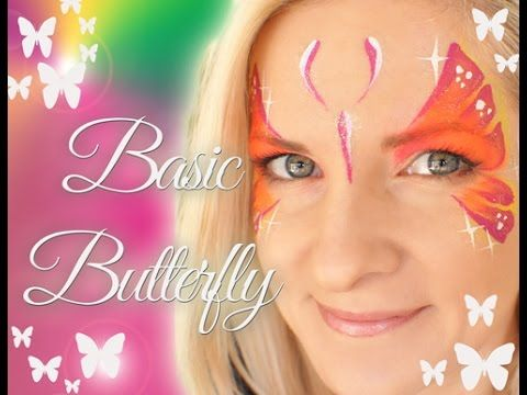 EASY Beginner Basic Butterfly Face Painting Tutorial - YouTube