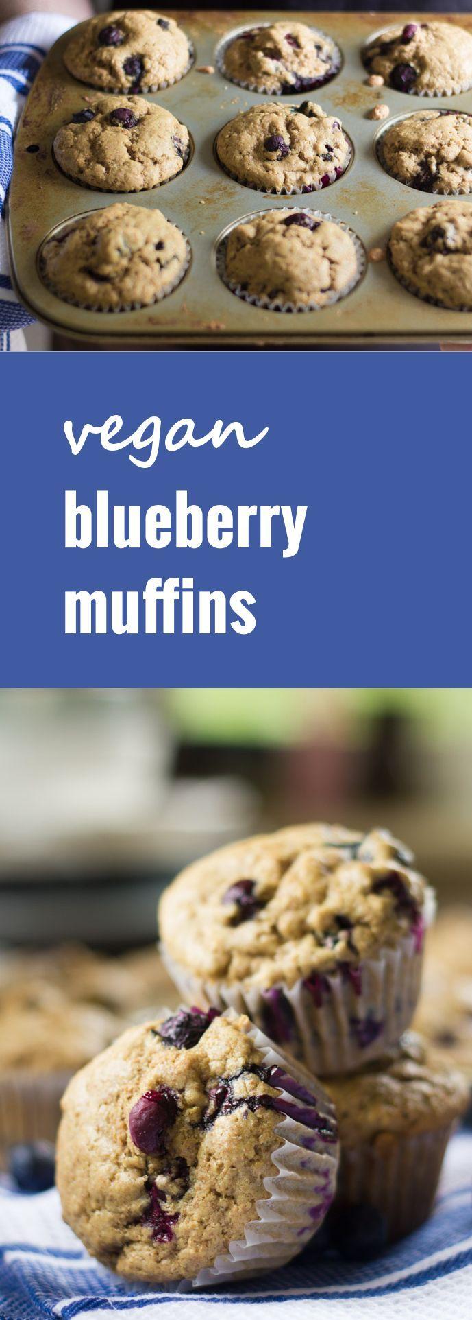 These Vegan Blueberry Muffins Are Moist Tender Bursting