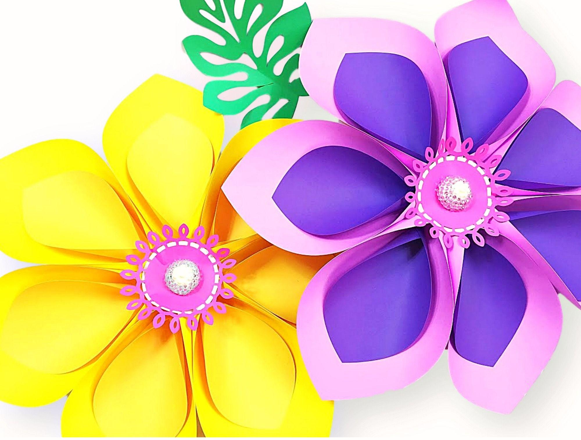 How To Make Giant Hawaiian Paper Flowers Hawaiian Paper Flower