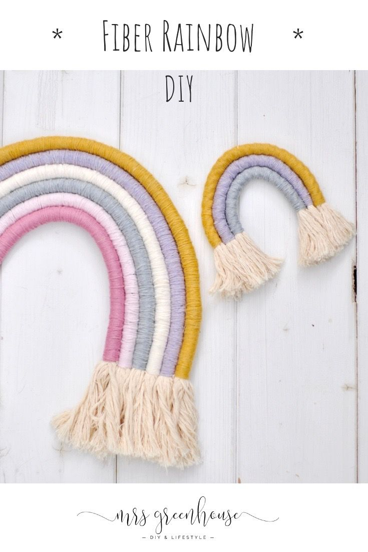 Photo of DIY Fiber Rainbow with instructions very easy to make yourself