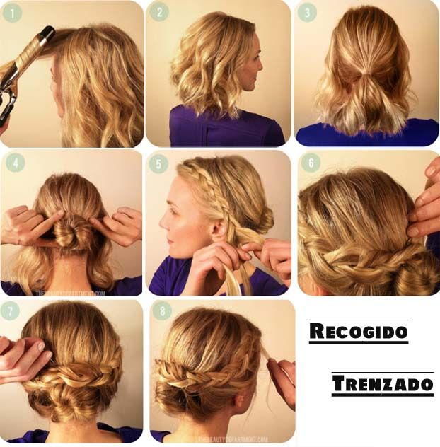 Peinados faciles para melenas medias