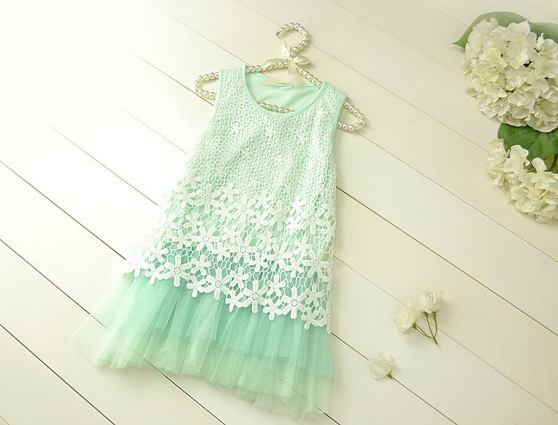 Mint Flower Girl Wedding Dress Lace Baby by AmazinGems on Etsy