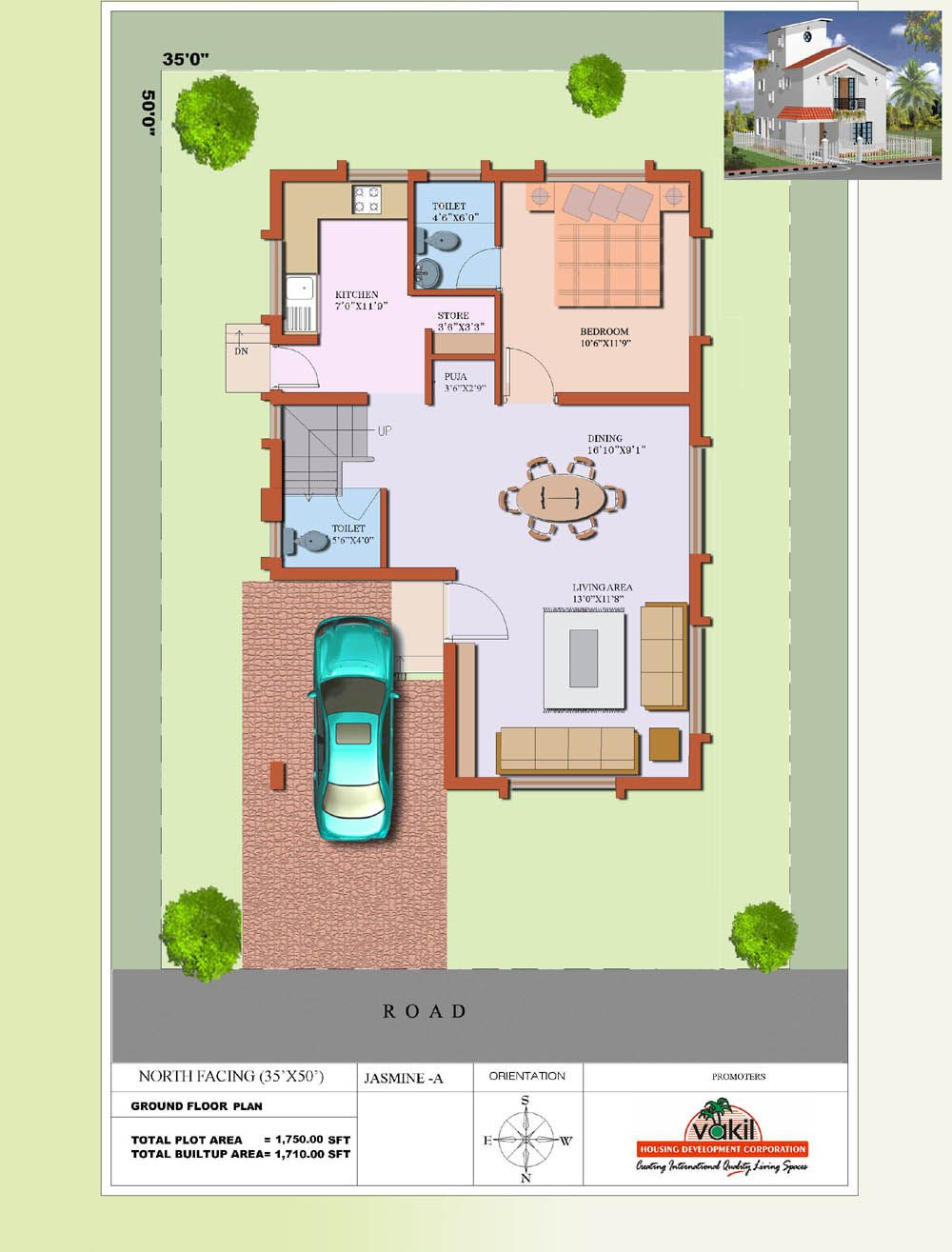 Pin By Balamurugan On House 20x30 House Plans South Facing House West Facing House