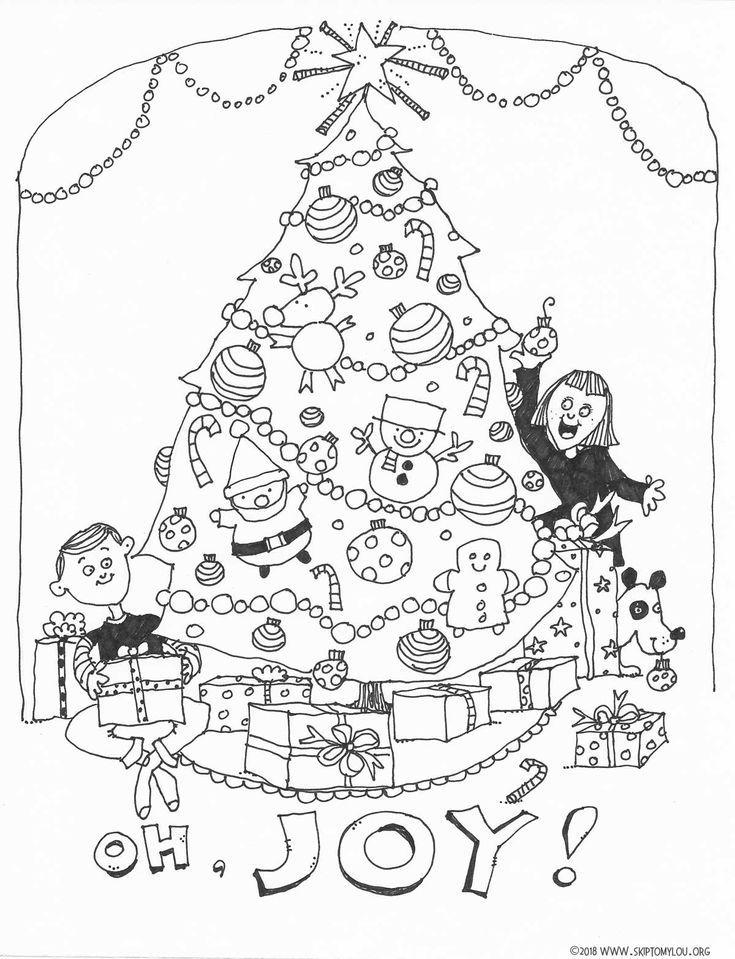 Christmas Tree Coloring Page | Christmas Ideas | Christmas ...