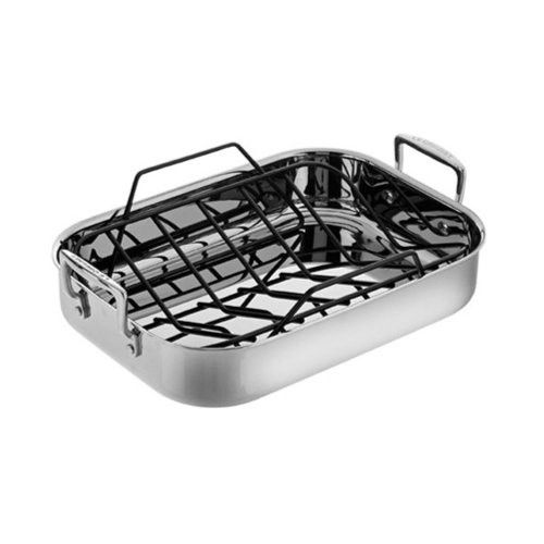 Le Creuset Stainless Steel Roasting Pan Set Small Enameled Cast Iron Cookware Roasting Pan Pan Set