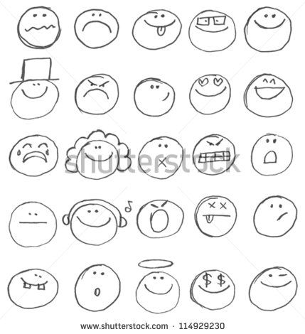 Set Cartoon Doodle People Stock Photos, Images, & Pictures