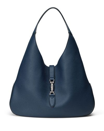 17d3f5f80874 V2H2H Gucci Jackie Soft Leather Hobo Bag, Navy | HAUTE HANDBAGS in ...