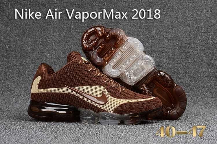 Original Air Max Nike Nike Air Vapormax 2018 Men Running Shoes Brown Beige Cheap Nike Air Max Nike Air Nike Air Vapormax
