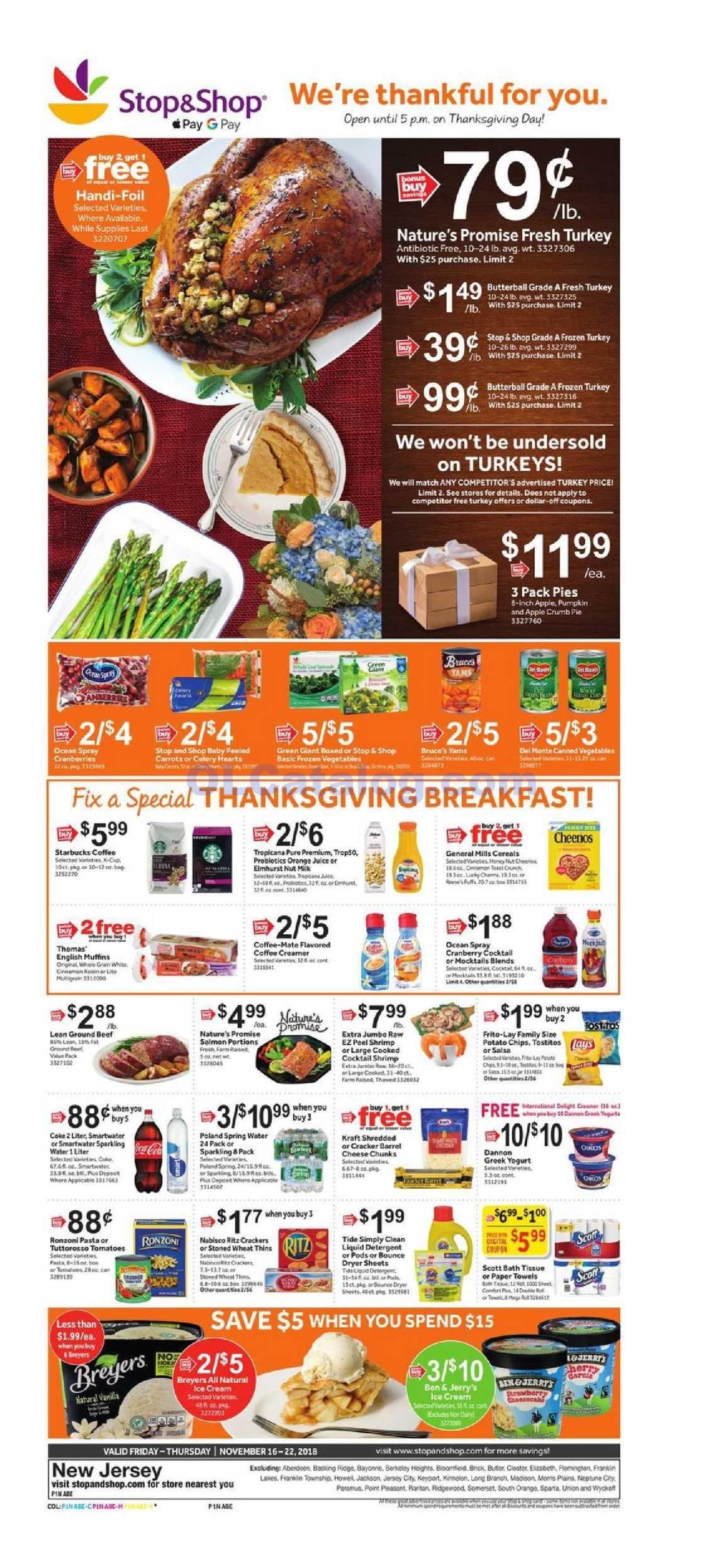 Stop And Shop Circular Valid Jun 26 - Jul 2, 2020 Sneak Peek Preview   Thanksgiving grocery ...