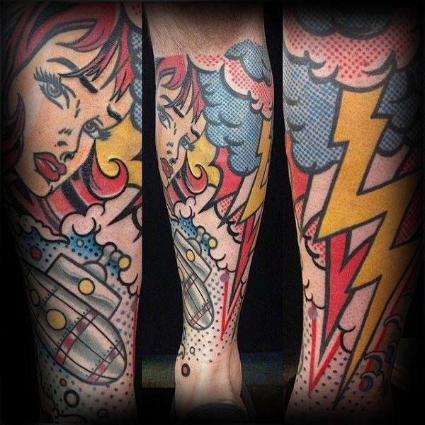 Top 60 Best Pop Art Tattoo Designs For Men Bold Ink Ideas Pop Art Tattoos Art Tattoo Tattoo Designs Men