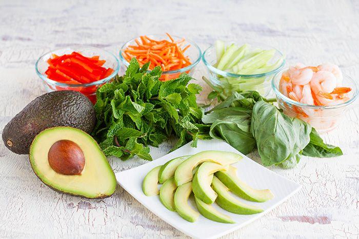 CAs Recipes | California Avocado Spring Roll Noodle Salad