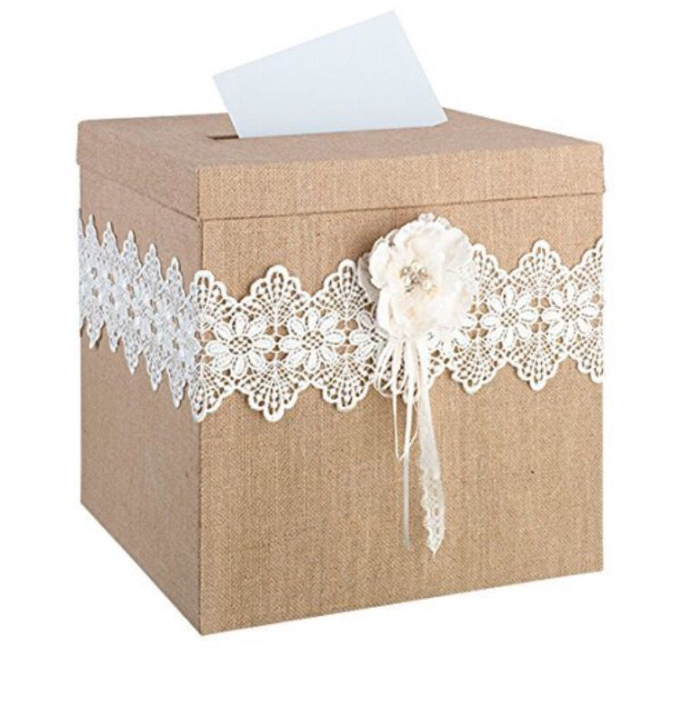 Wedding card box :) Rustic vintage look