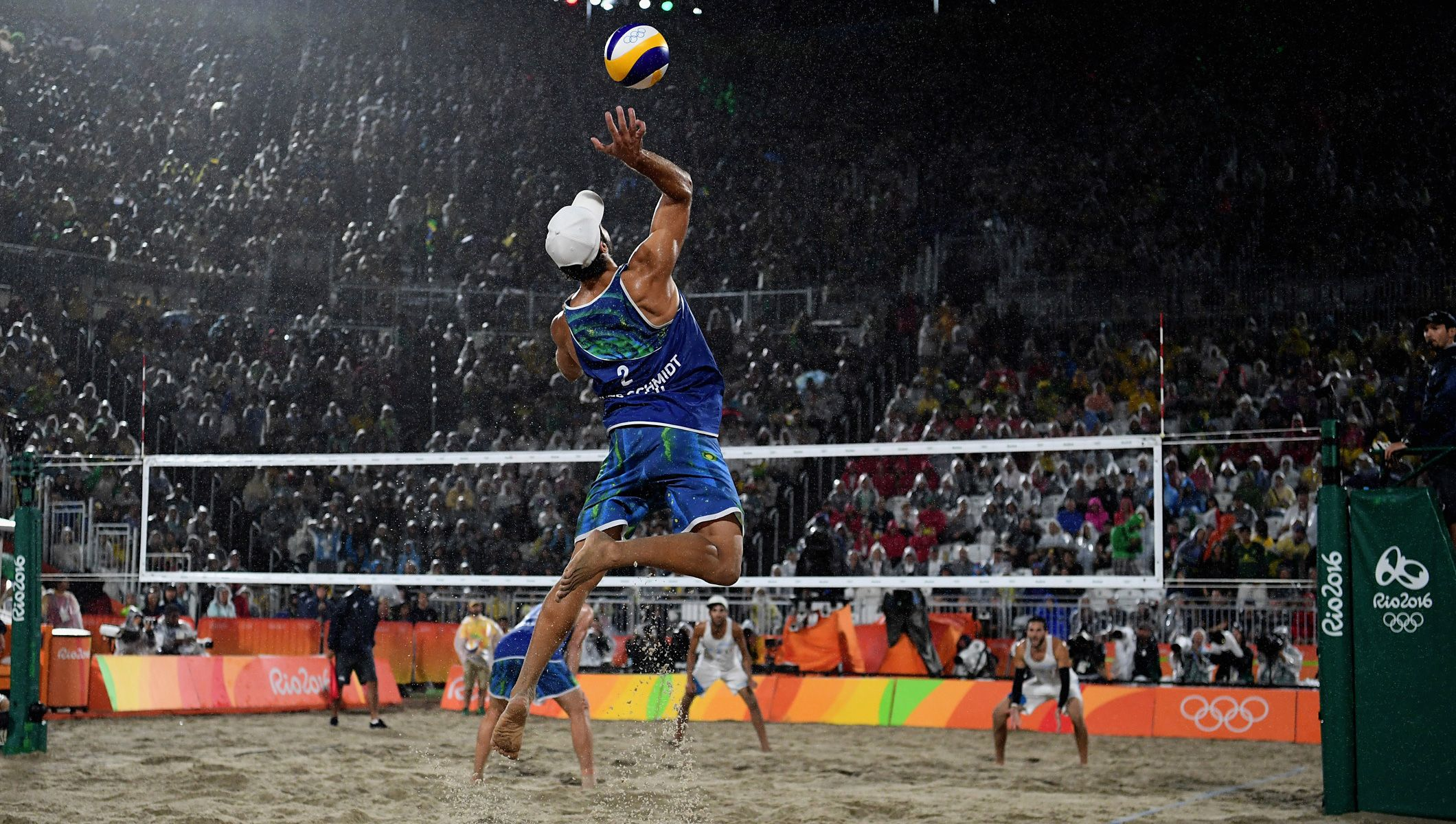 Reigning World Champions Alison Cerutti And Bruno Oscar Schmidt Of Brazil Got Beach Volleyball Volleyball Rio Olympics