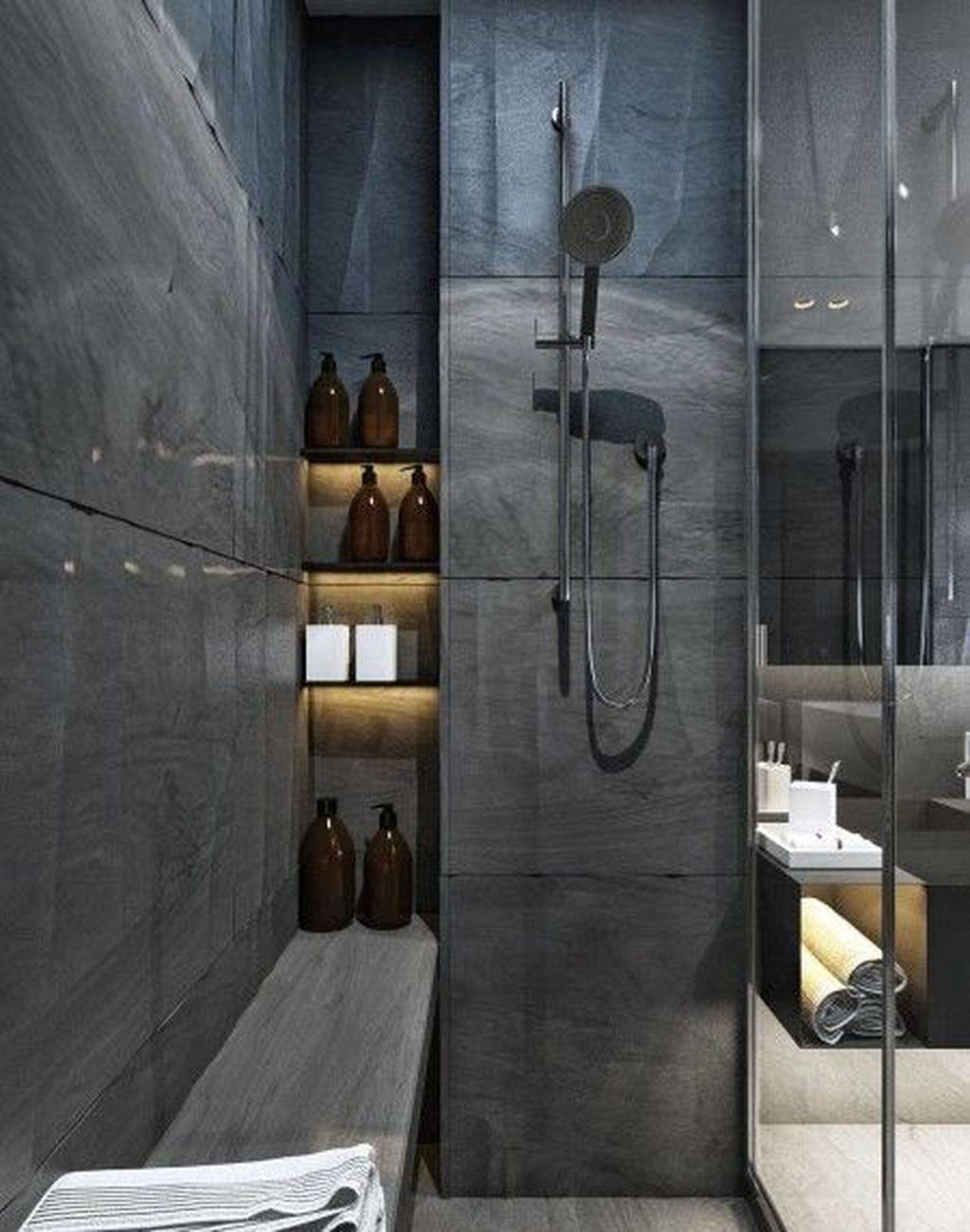 Awesome 36 Minimalist Bathroom Shower Design Ideas Bathroom Shower Design Contemporary Bathroom Tiles Elegant Bathroom