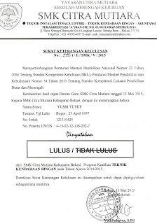 Brankas Arsip Contoh Surat Keterangan Kelulusan Surat Sekolah