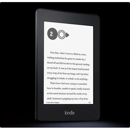 World's most advanced e-reader – higher resolution, higher contrast touchscreen with built-in light and 8-week battery life