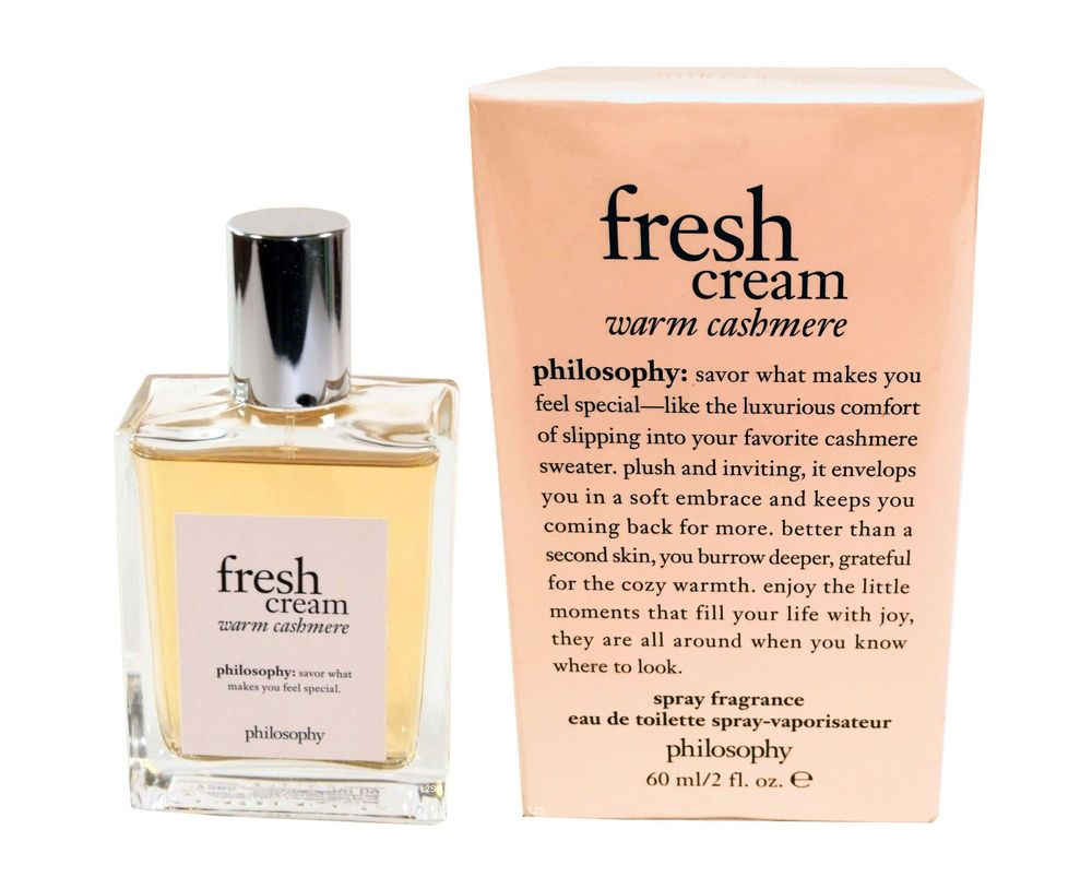 Philosophy Fresh Cream Warm Cashmere 2oz 60ml Eau De Toilette Spray For Women Philosophy Philosophy Fresh Cream Fresh Cream Philosophy Products