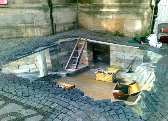 Art 3D by GREGOR WOSIK, a street artist from Poland.