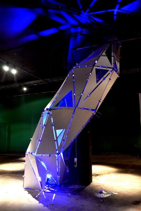 Instalación parametrica (parametric design installation) por Universidad de Palermo (Espacio F, Casa FOA 2012 Molina Ciudad)