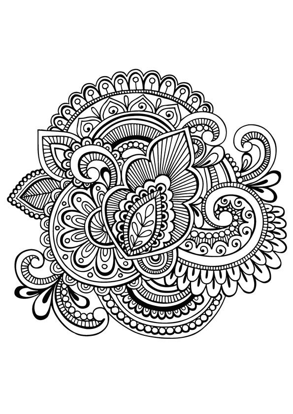 this would make such a terrific knee or pocket #patch w/ #embroidery   Mandala coloring pages ...