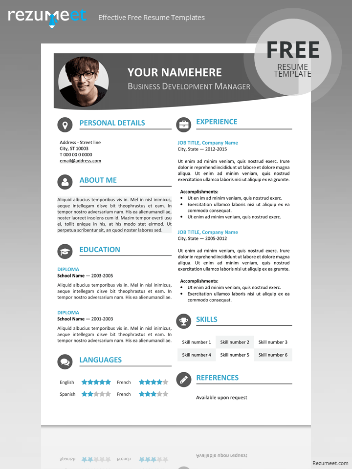 Free Modern Resume Template  Resume Templates