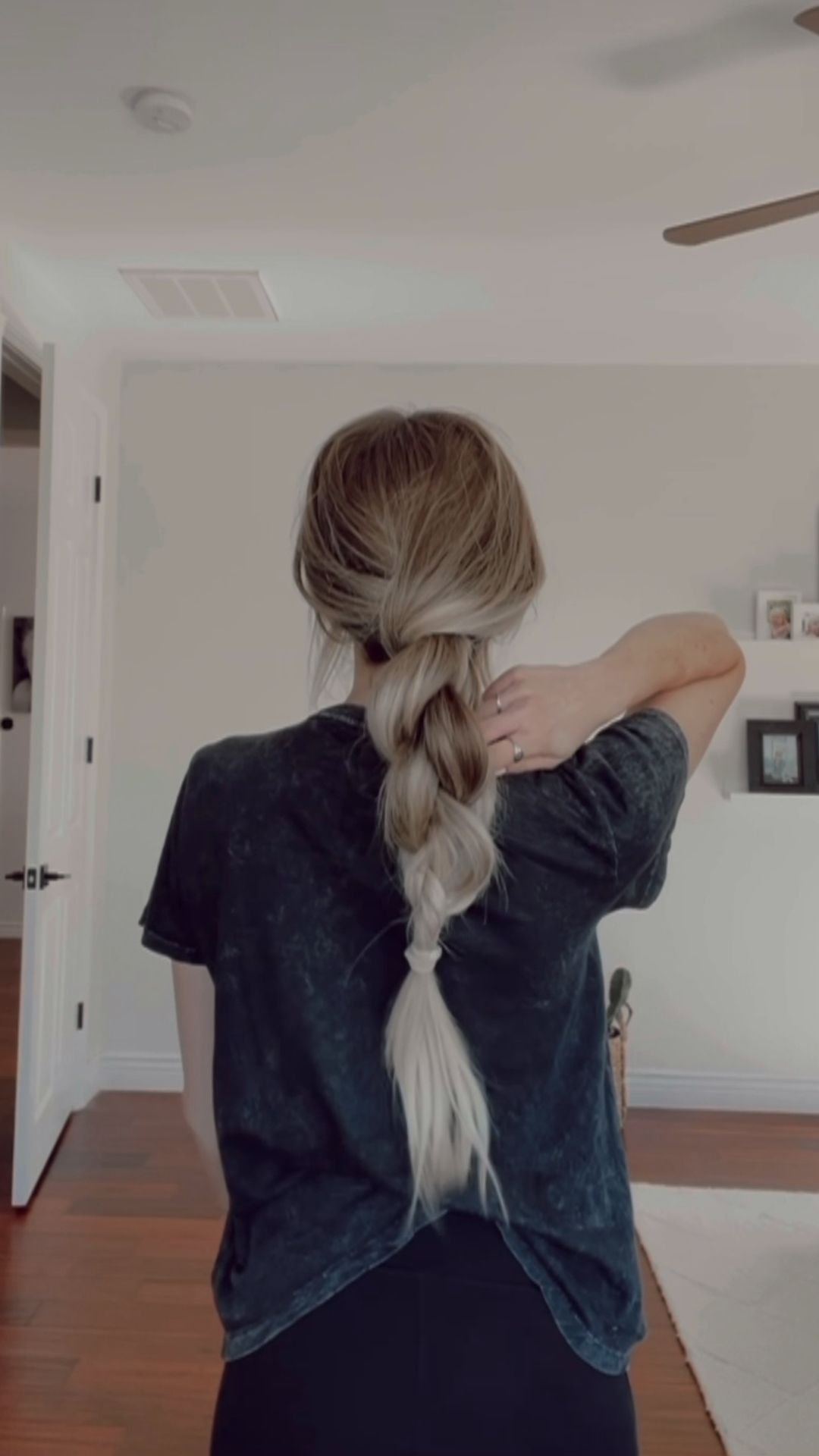 Ponytail and extra braid style