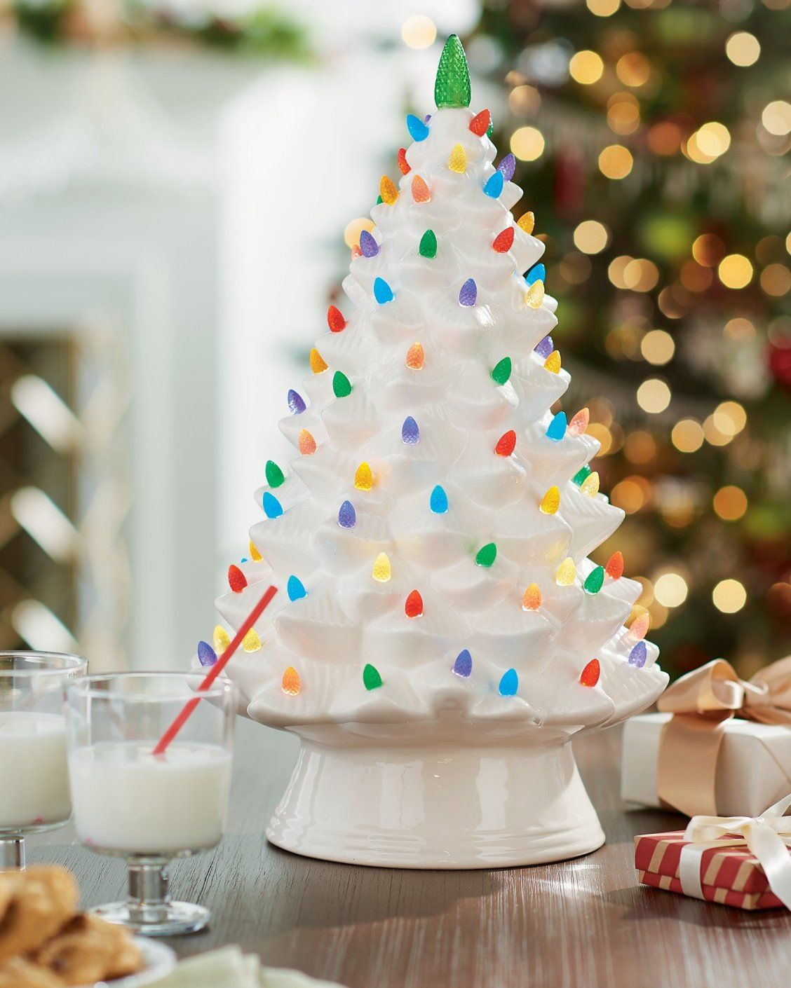 Our porcelain tree plays 15 instrumental holiday songs, so it\'s even ...