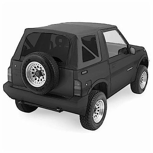 1988 1994 Geo Tracker Suzuki Sidekick Soft Top Black With Tinted