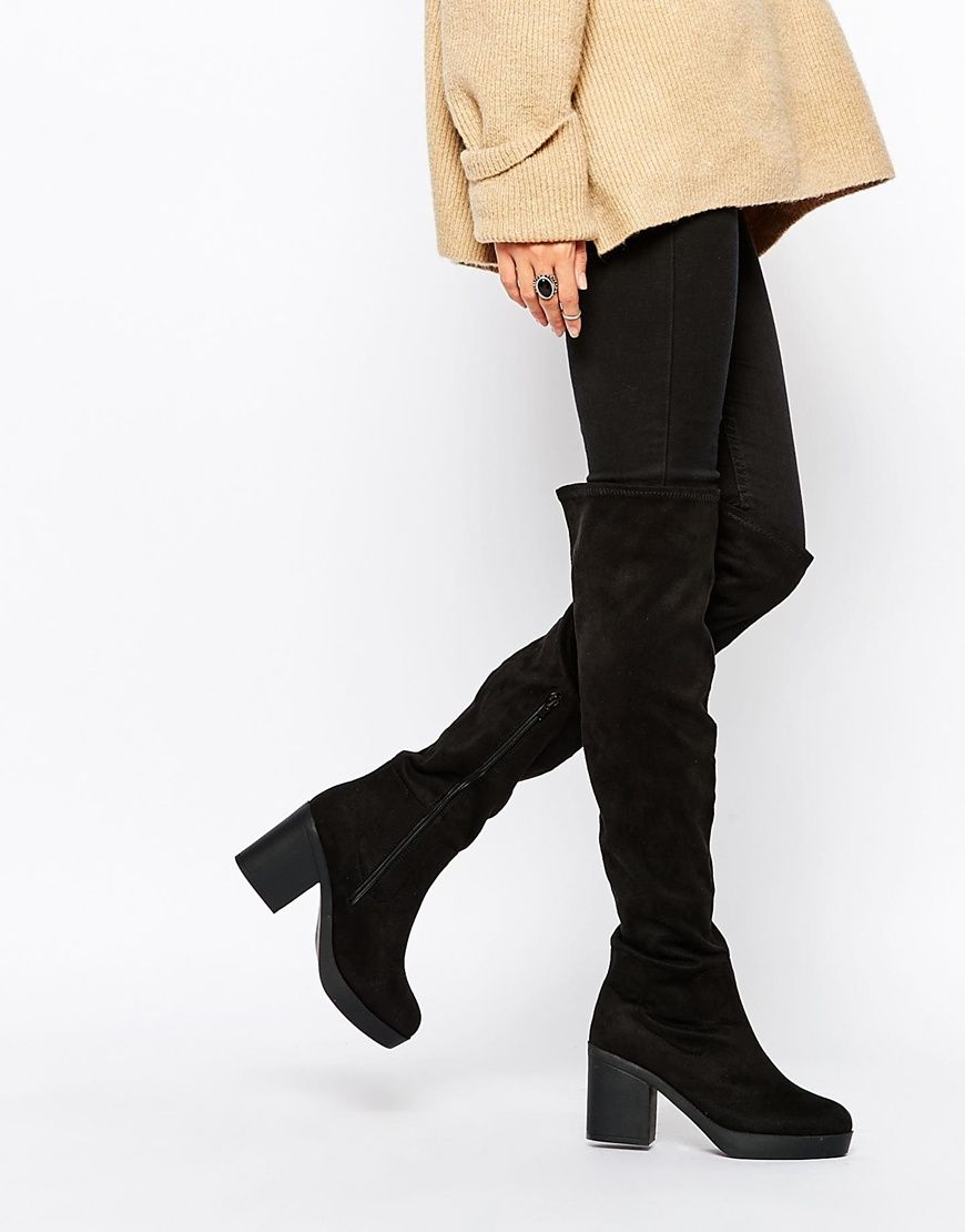 New Look | New Look Wide Fit Over The Knee Boot at ASOS | ◸ shoes ...