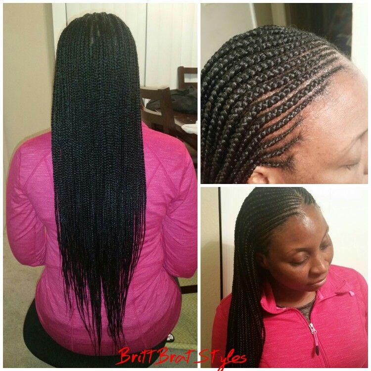 Layered Braids Brittbratstyles Feed In Braids Cornrows Micro Cornrows Hairstyle Braided Hairstyles Hair Styles Natural Hair Styles