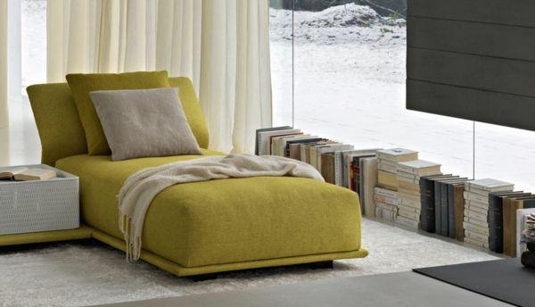 24 Modeles De Meridienne Design Chic Pour Votre Maison Archzine Fr Fauteuil Bureau Design Salon Moderne Rideaux Salon
