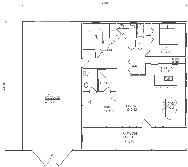 Pole barn home floor plans the sweet home pole barn for Pole barn plans pdf