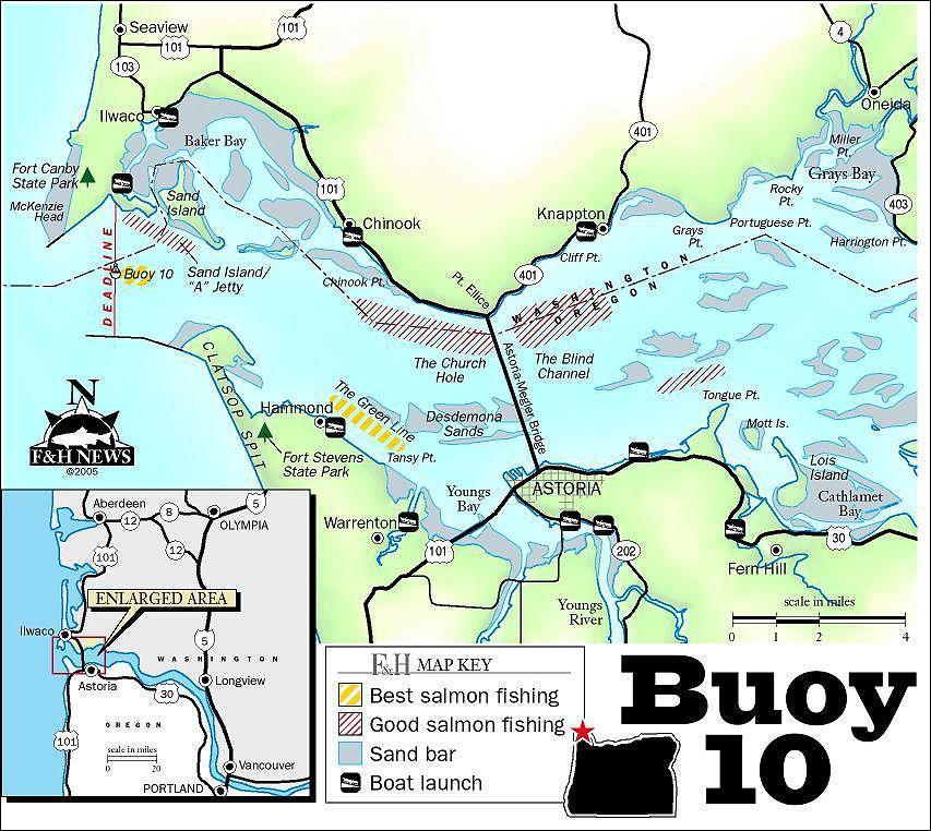 Image result for buoy 10 fishing map | Fishing maps, Fishing photos, Salmon fishing