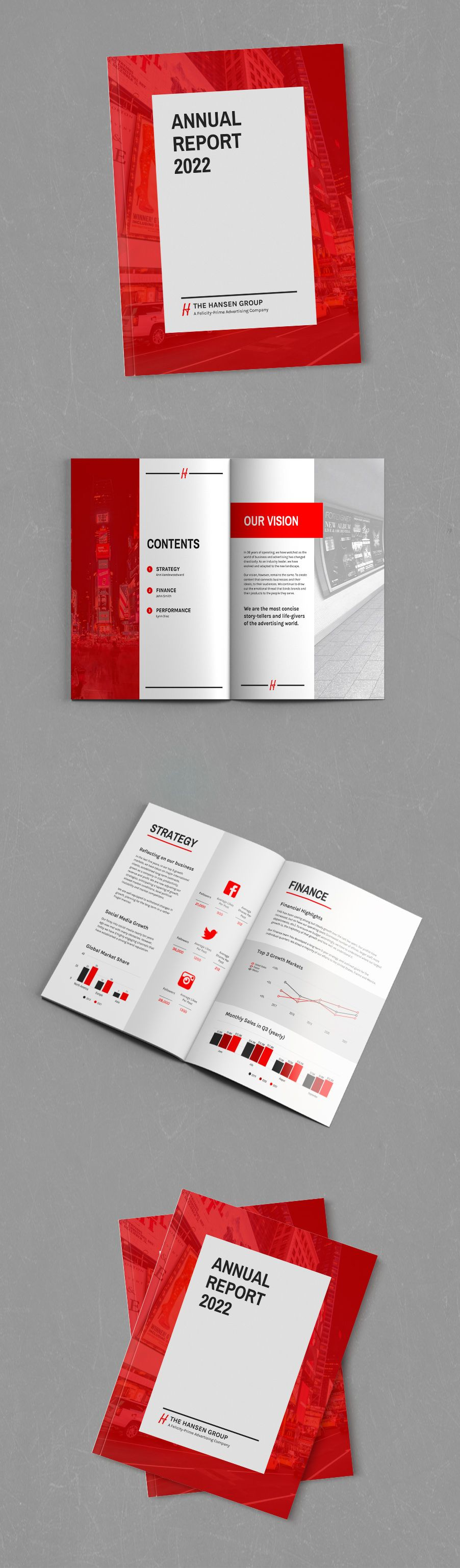 Corporate Annual Report Template #annualreports