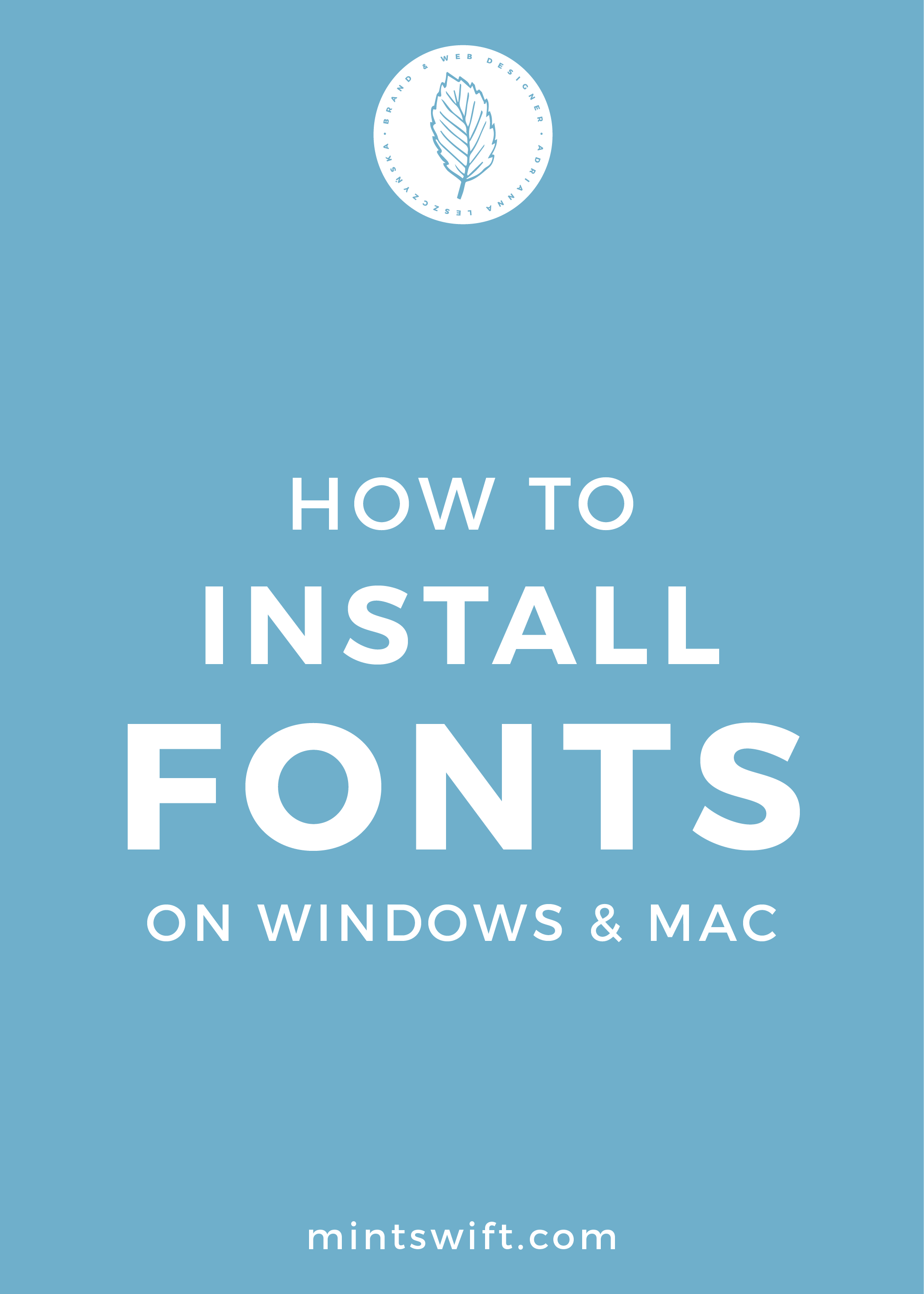 How to Install Fonts on Windows & Mac | Female Bloggers Free