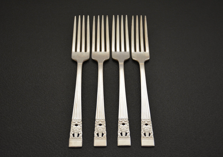 Oneida Coronation Silverplate Flatware, Silverware, Dinner Forks ...