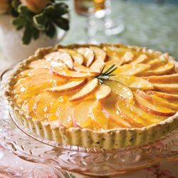 Peach-Ricotta Tart with Rosemary-Cornmeal Crust