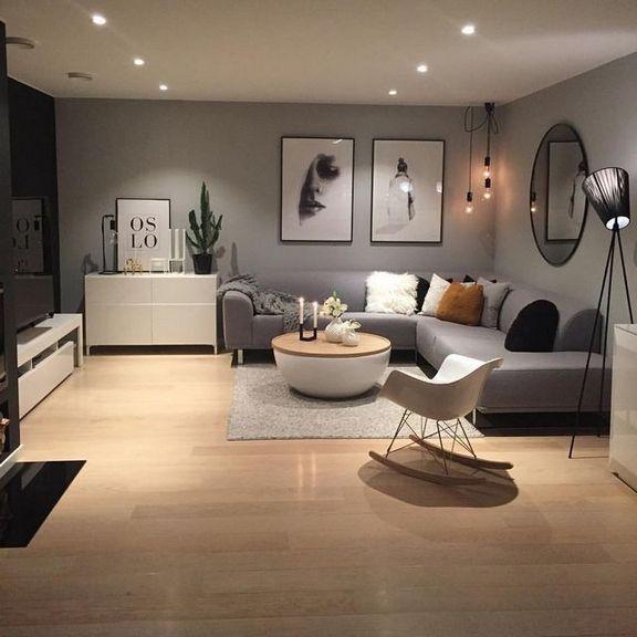 43 Der Reiz der zeitgenössischen Wohnzimmergestaltung und Dekorationsideen 76