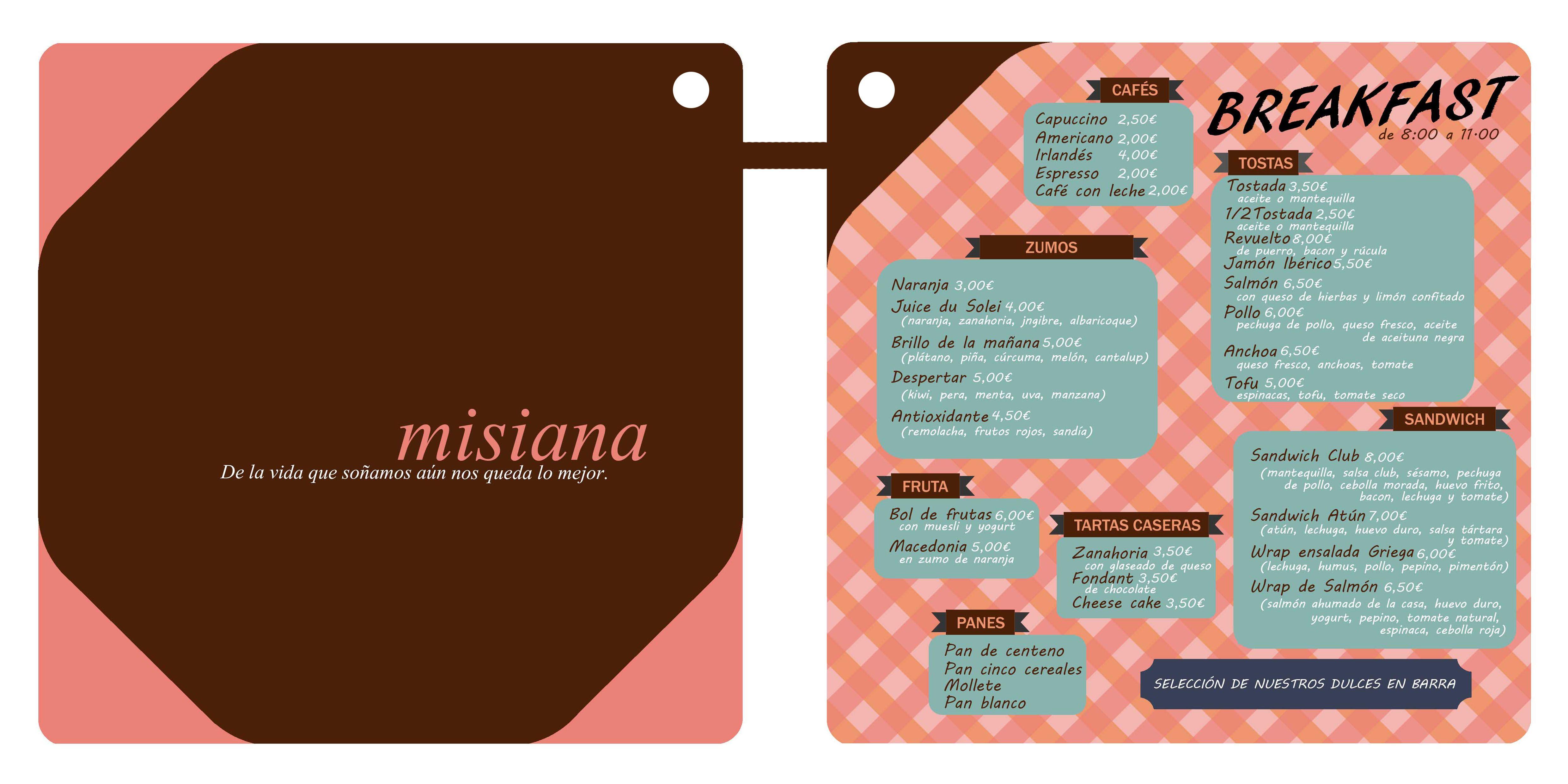 Restaurante Misiana. Tarifa 2014