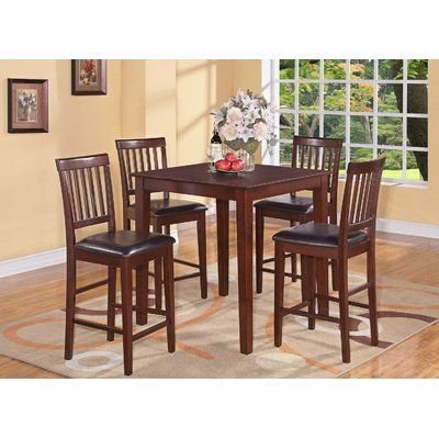 Alcott Hill Stockport 5 Piece Counter Height Dining Set Finish ...