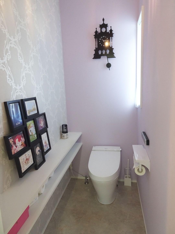 1階アクセントクロスまとめ リビングは人気のグレー トイレは大人