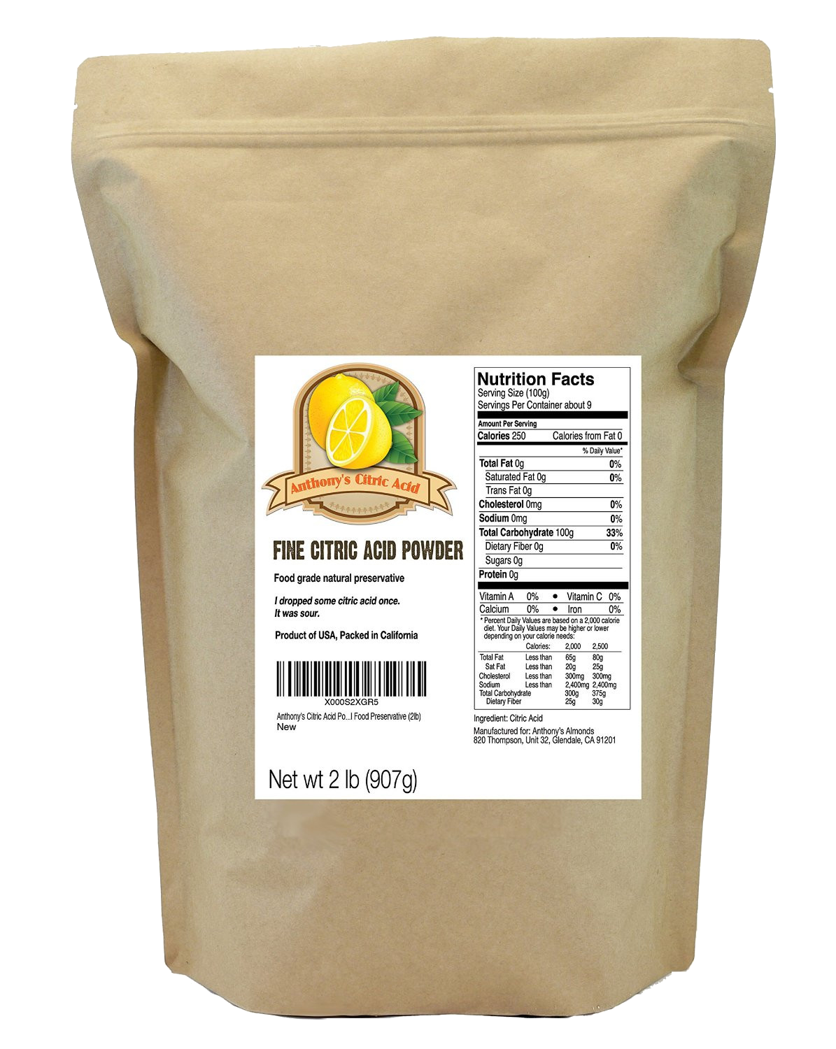 The Finest Powdered Form Of Citric Acid Available An Actual Powder Not Granular Like Other Suppliers Just Pure No Added Ings