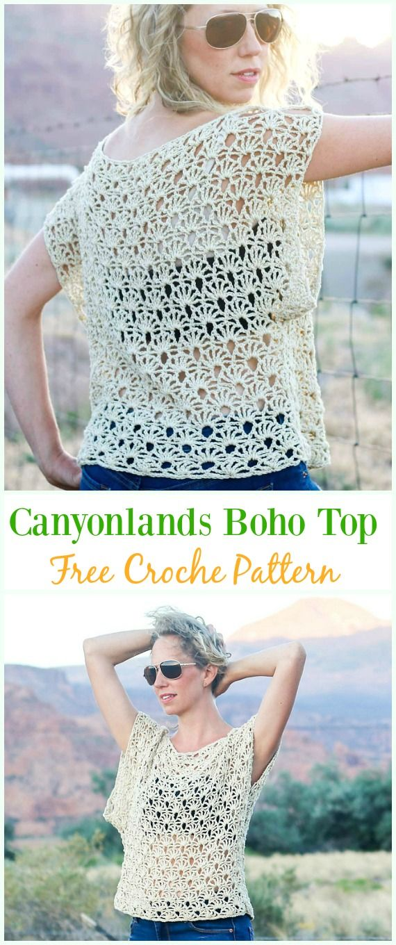 Crochet Canyonlands Boho Top Free Pattern -Crochet Summer Top Free ...