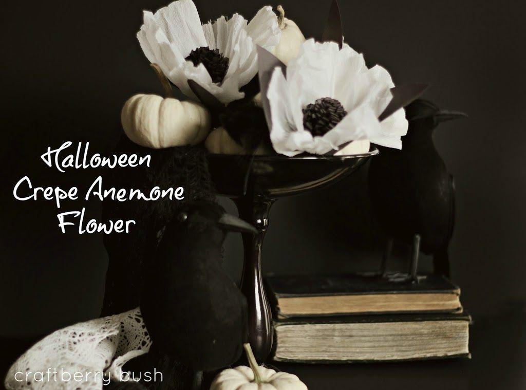 Halloween Crepe Anemone Flower\u2026 paper Pinterest Anemone - classy halloween decor