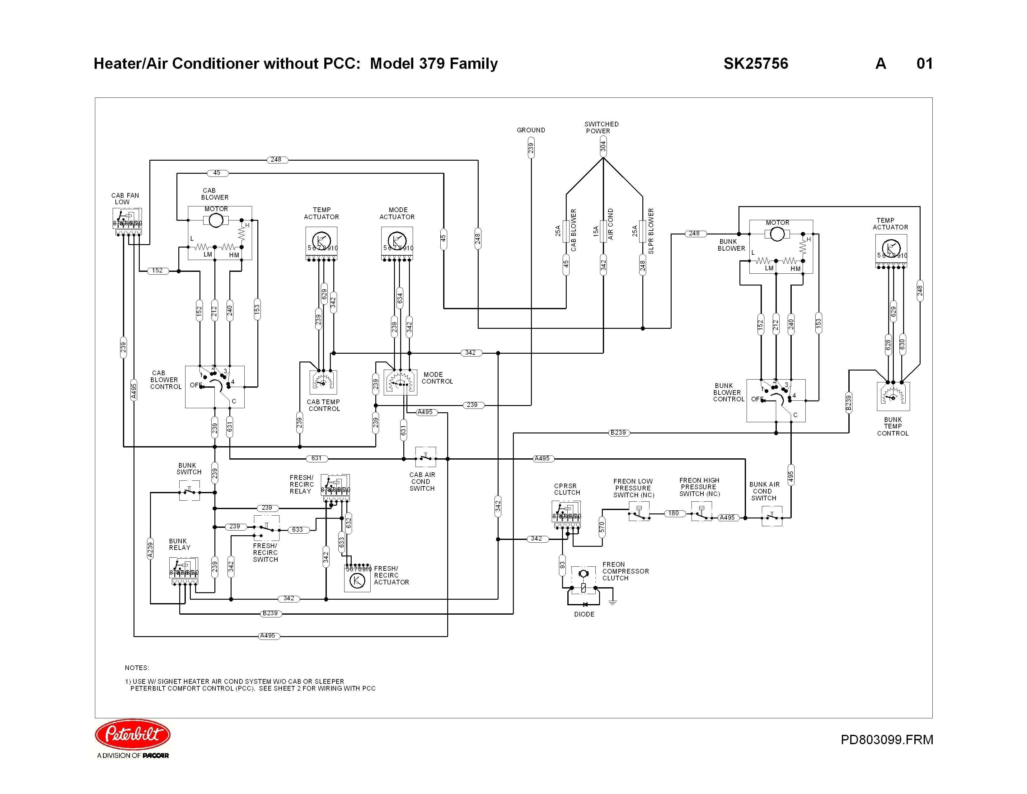 Awesome Peterbilt 379 Headlight Wiring Diagram Di 2020