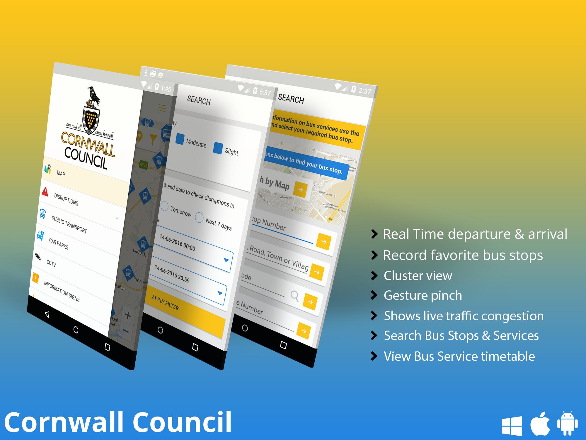 Cornwall Council Transport Mobile App Mobile Application Development Application Development Mobile App Development Companies