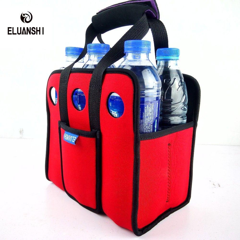 2018 Wholesale Neoprene Wine Beer 6 Can Cooler Bag Outdoors Ice Gel Bag Picnic Coolsacks Wine Cooler Box Chillers Frozen Bag B Cooler Bag Frozen Bag Picnic Bag