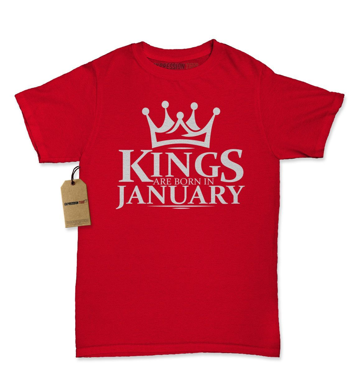 Kings Are Born In January Womens T-shirt