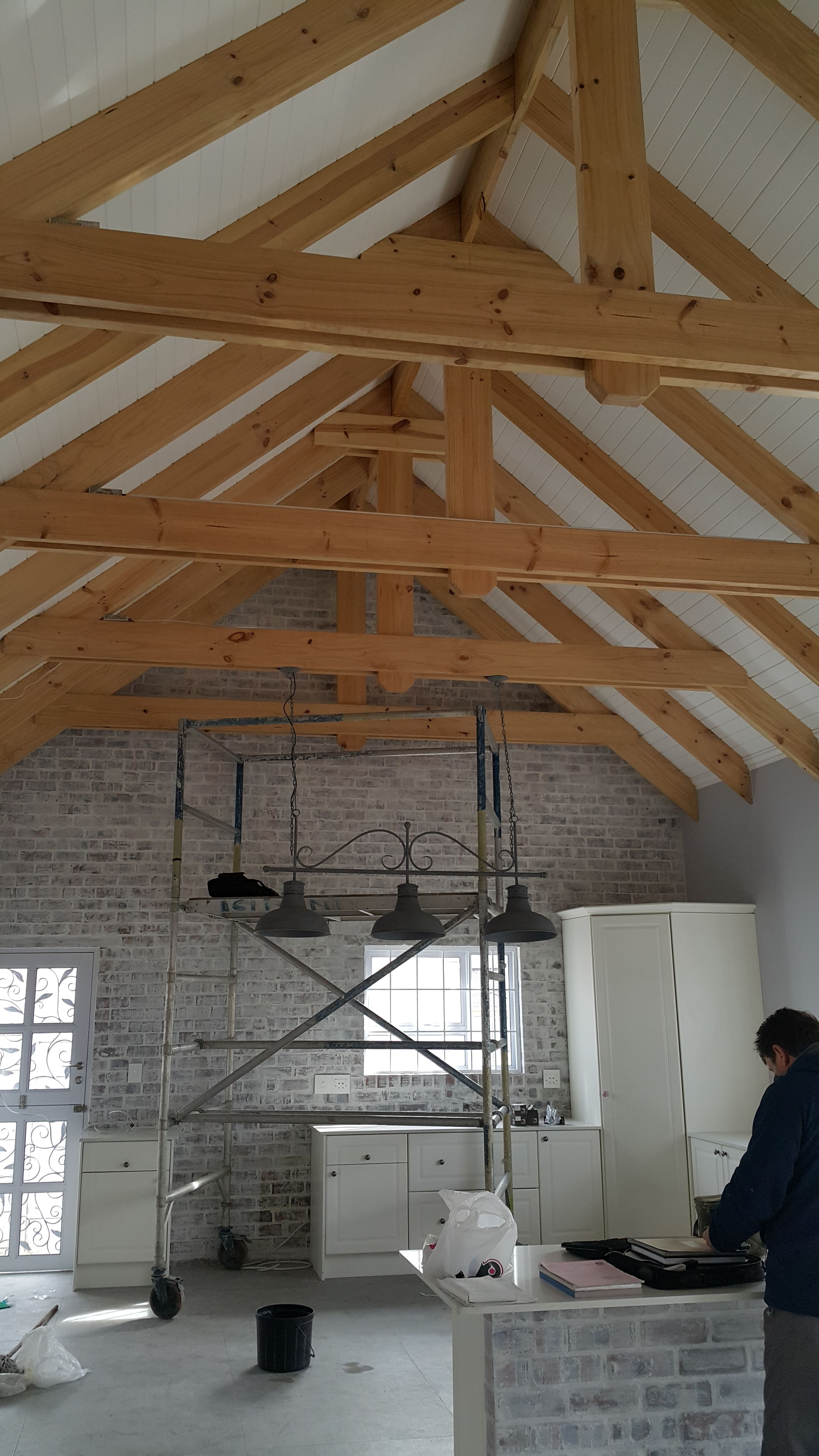 Another Stunning Ceiling Of An Exposed Ceiling Fitted With