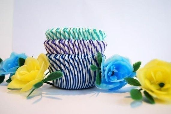 Aqua Teal and White Stripe Cupcake Liners 50 by CupcakeSocial, $3.25 The lavender and teal Are theses close to our colors? minus the botton blue one
